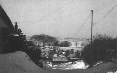 Bartlow Road in the snow., 1963