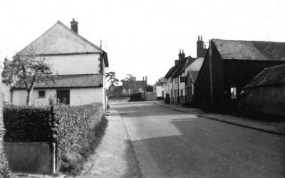 View up Linton Road to the Green, 1930s