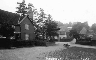 The Green, Post Office and view up Church Path, late 1920s