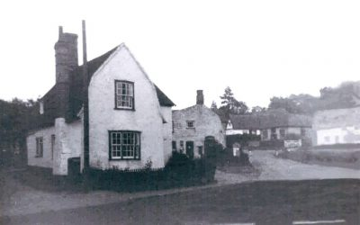 The Green, Goldacre Cottage and neighbouring Post Office in Roundhill Cottage