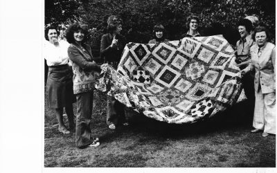 Hadstock Patchwork Quilt made by WI members in 1978