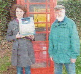 Hadstock's defibrillator installed in the BT phone box, May 2012
